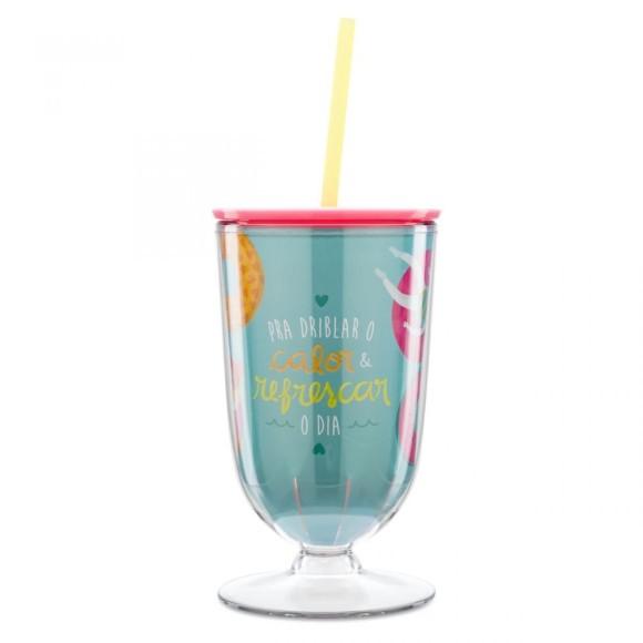 Taça Com Canudo Verão Tropical - Ludi