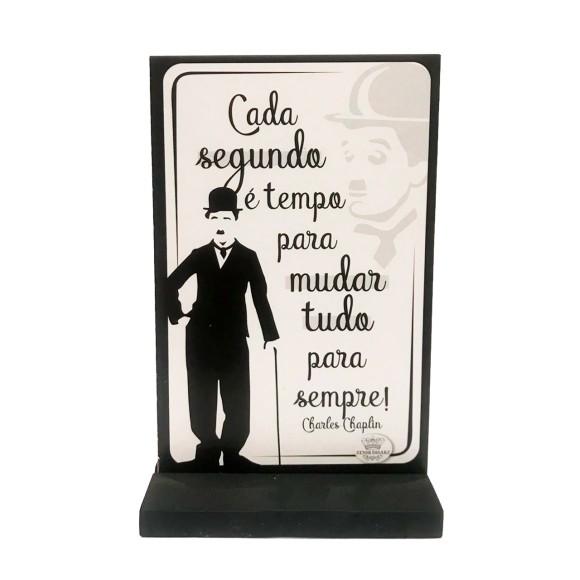 Plaquinha Decorativa Charles Chaplin - Zenir