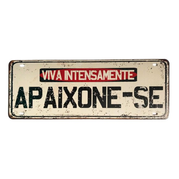Placa Decorativa Autoadesiva Viva Intensamente - Zenir