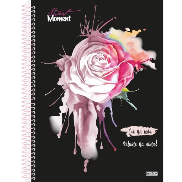 Caderno Espiral Colegial 1 Matéria 80 Folhas Sweet Moment - São Domingos