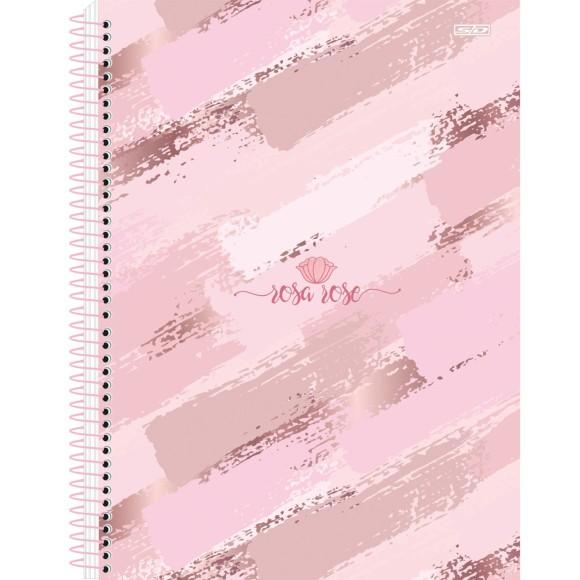 Caderno Espiral Universitário 1 Matéria 80 Folhas Rosa Rose - São Domingos