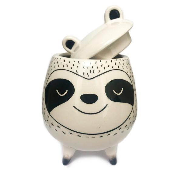 Cachepot Animal Porcelana Bicho Preguiça - Bras Continetal