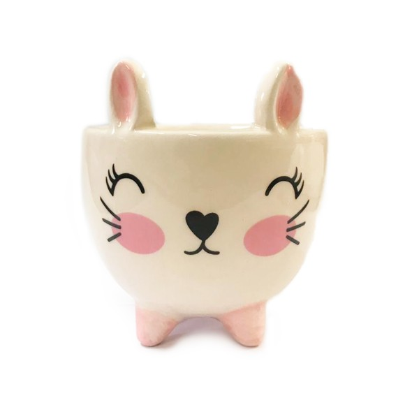 Cachepot Gato Porcelana - Bras Continental
