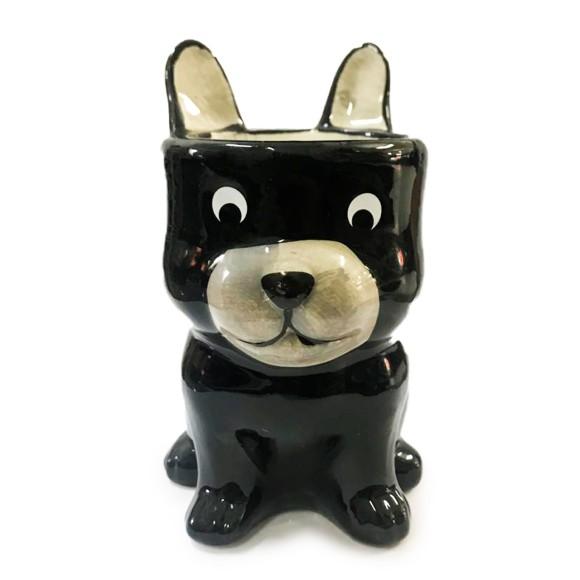 Cachepot Cachorro Bullie Porcelana - Bras Continental