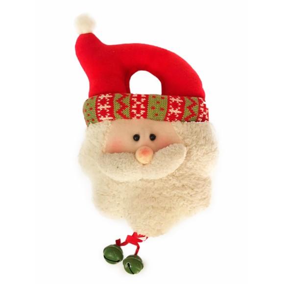 Enfeite de Porta Com Sino Natal Papai Noel - Cromus
