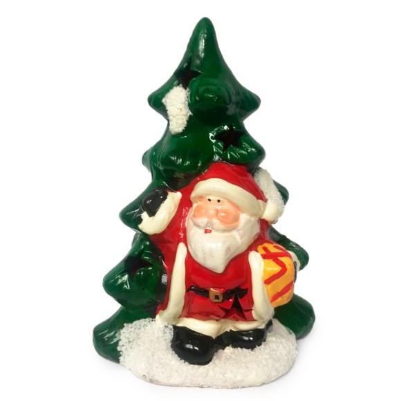 Árvore Com Papai Noel Decorativa Com Led - Tomix