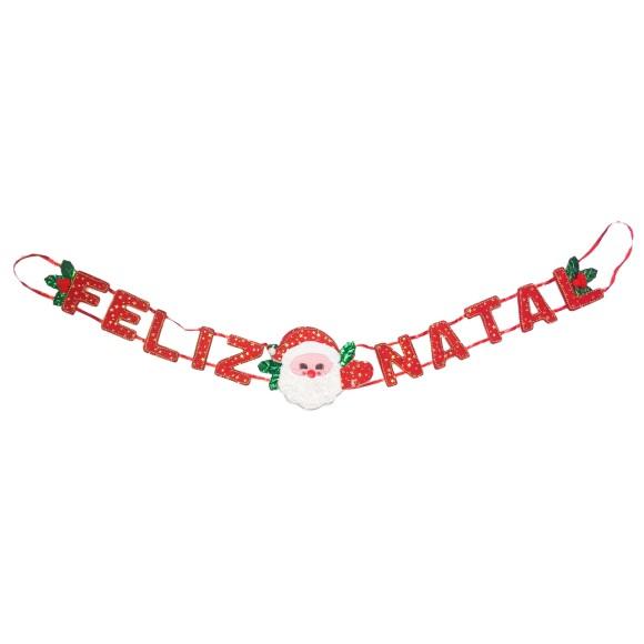 Faixa Feliz Natal Decorada - Art Christmas