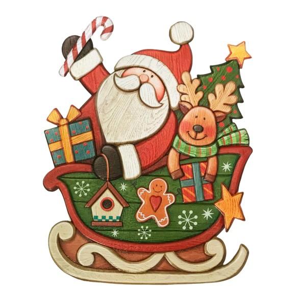 Adesivo Decorativo Auto Relevo Natalino - Art Christmas