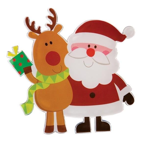 Adesivo de Silicone Decorativo Natalino Papai Noel - Art Christmas