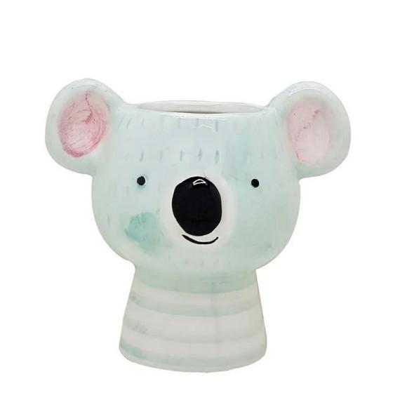 Cachepot Coala Azul Porcelana - Bras Continetal