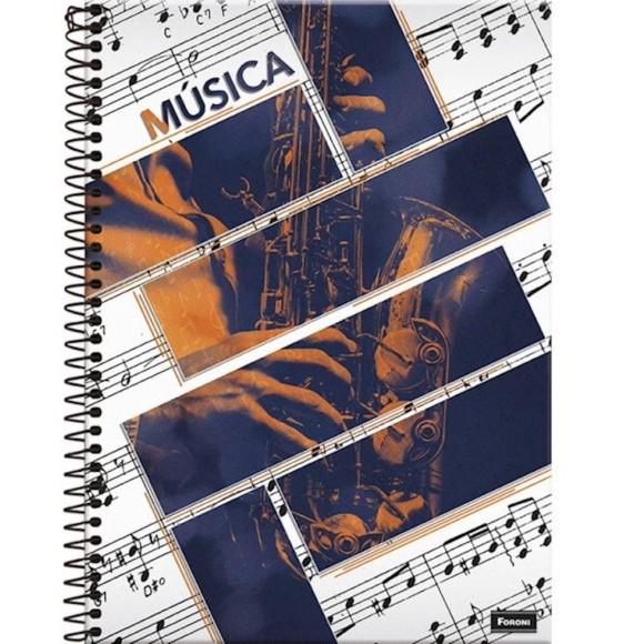Caderno de Música Espiral Universitário 96 Folhas - Foroni