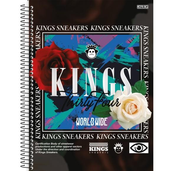 Caderno Espiral Universitário 1 Matéria 80 Folhas Kings - São Domingos