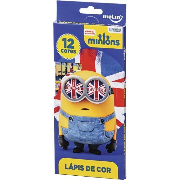 Lápis de Cor 12 Cores Minions - Molin