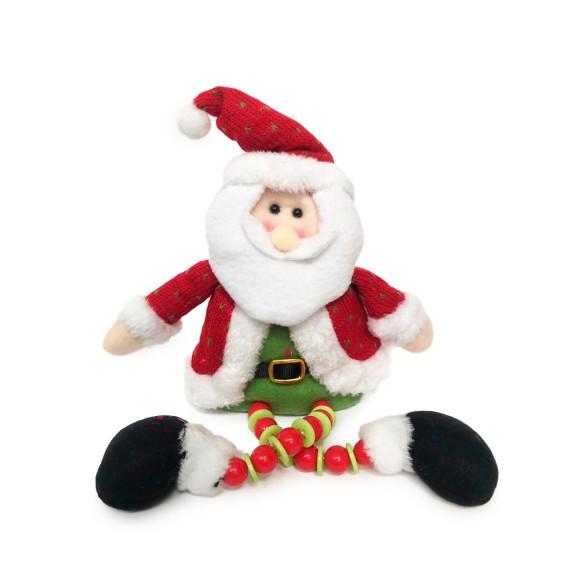 Papai Noel Sentado Com Perna em Bolinhas - Art Christmas