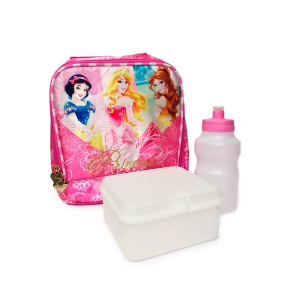 Lancheira Com Garrafa e Porta Lanche Soft Princesas Disney - Dermiwil