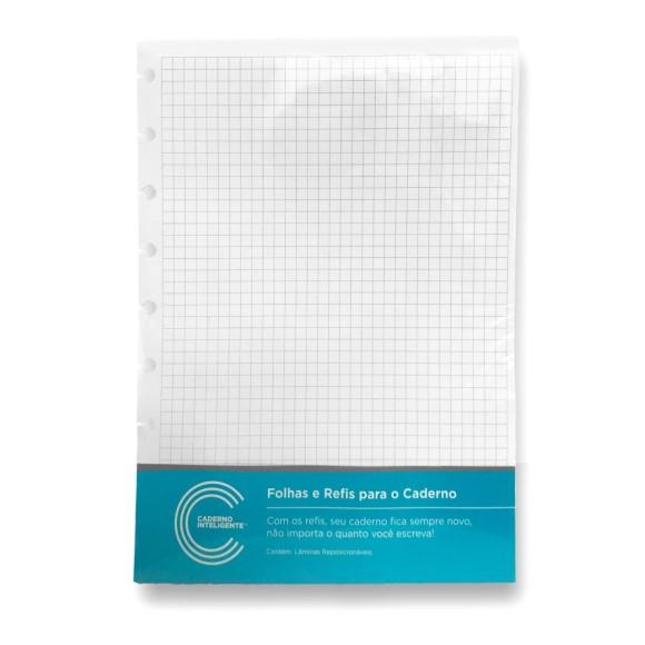 Refil Quadriculado Grande 90g - Caderno Inteligente