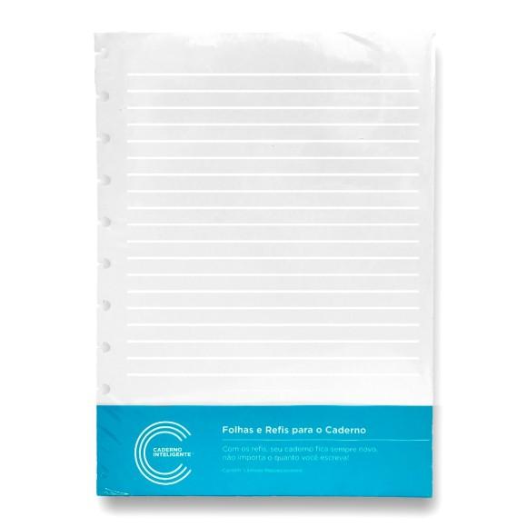 Refil Pautado Linha Branca 90g Grande - Caderno Inteligente