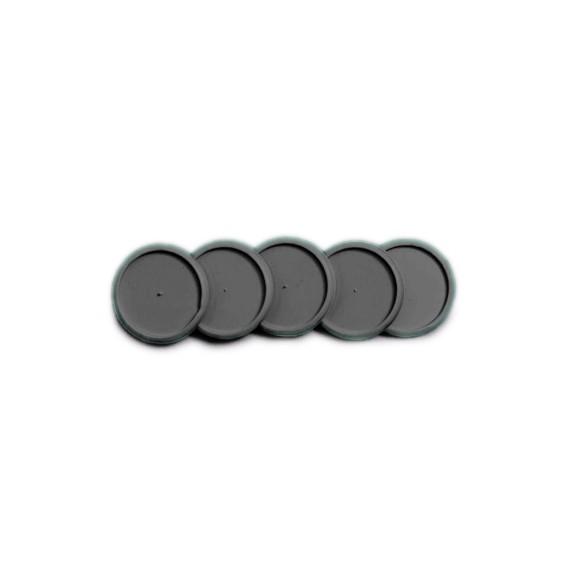 Discos + Elástico Preto  G - Caderno Inteligente