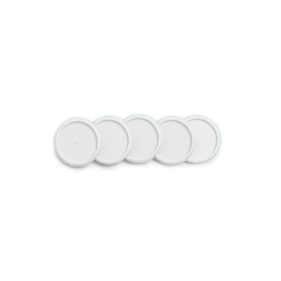 Discos + Elástico Branco M - Caderno Inteligente