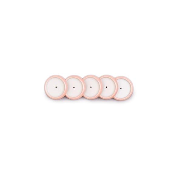 Discos + Elástico Rosê Perolado M - Caderno Inteligente