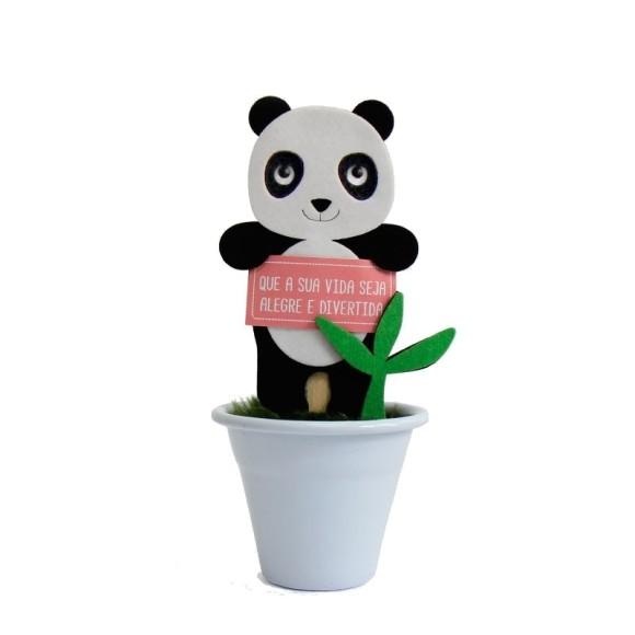 Mini Vaso Panda Branco - Fina Ideia