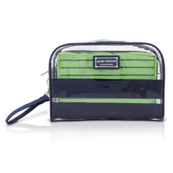 Conjunto Com 2 Necessaire Felicita Azul Marinho e Verde - Jacki Design