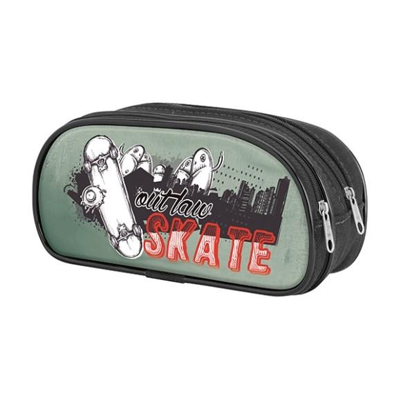 Estojo Out Law Duplo Skate - Art Manual