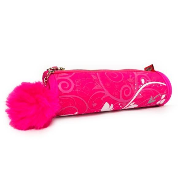 Estojo Cilindrico Neoprene Decorado Pink - Daterra