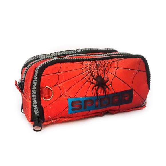 Estojo Triplo Porta Canetas Spider - Daterra