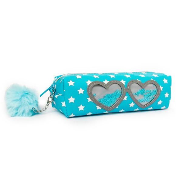 Estojo Infantil Glass Coração Azul - Daterra