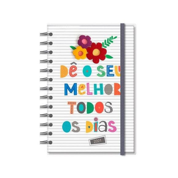 Agenda 2021 Diária M Frases Coloridas - Fina Ideia