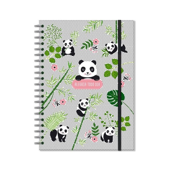 Caderno Colegial 96 Folhas Panda - Fina Ideia