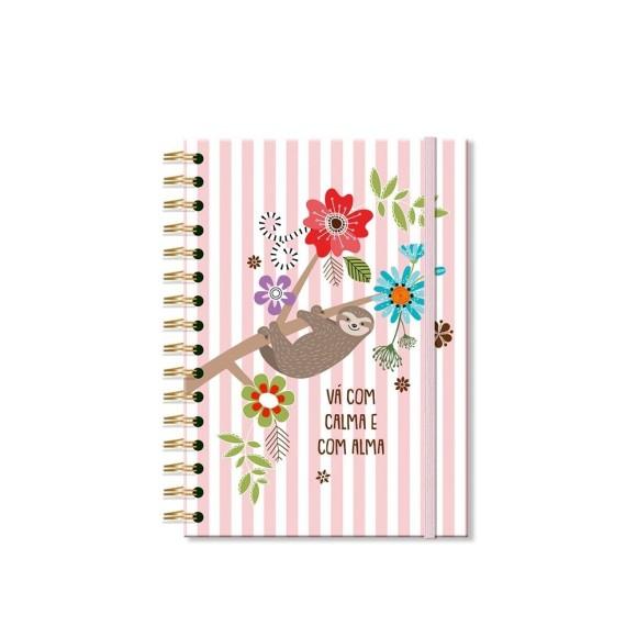 Caderno Clássico 96 Folhas Bicho Preguiça - Fina Ideia