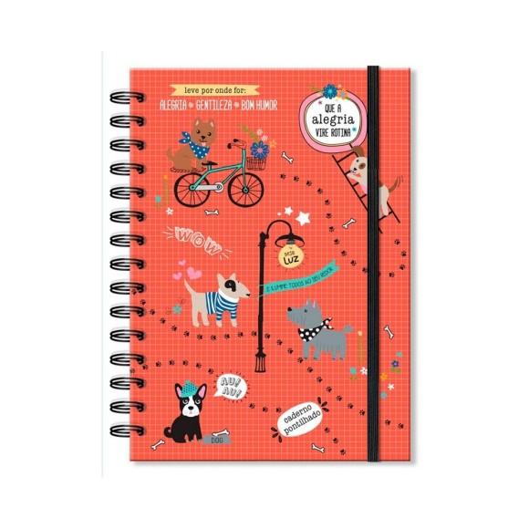 Caderno Pontlhado 96 Folhas Cachorro Amigo - Fina Ideia