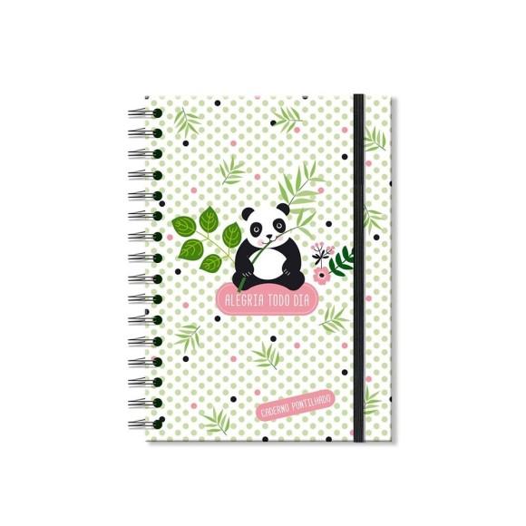 Caderno Pontilhado 96 Folhas Panda - Fina Ideia