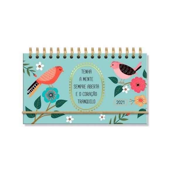 Agenda Mini Semanal 2021 Pássaros - Fina Ideia