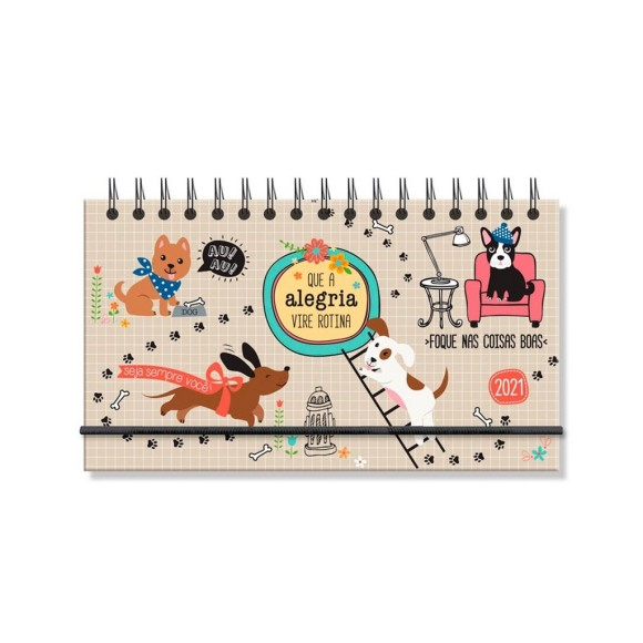 Agenda Mini Semanal 2021 Cachorro Amigo - Fina Ideia