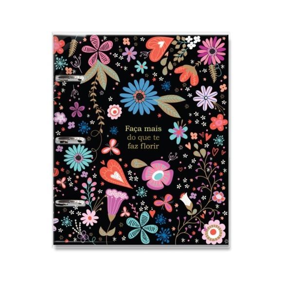 Caderno Argolado Fichário 120 Folhas Fiore - Fina Ideia