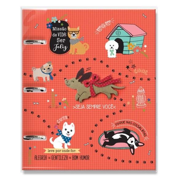 Caderno Fichário Argolado 120 Folhas Cachorro Amigo - Fina Ideia