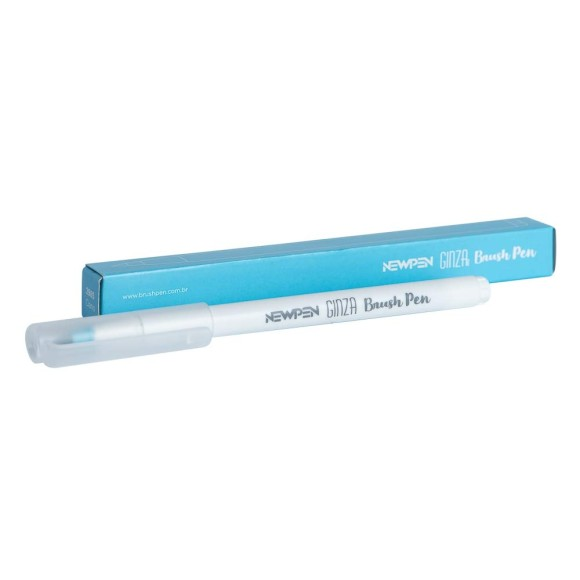 Brush Pen Ginza Pro Azul Ciano 2985 - NewPen