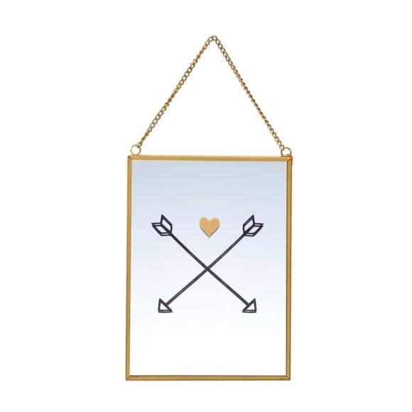 Quadro Espelhado Dourado Flecha - Brás Continental