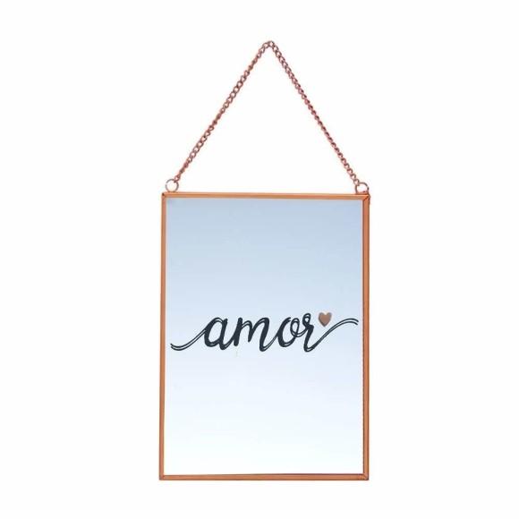 Quadro Espelhado Rose Amor- Brás Continental