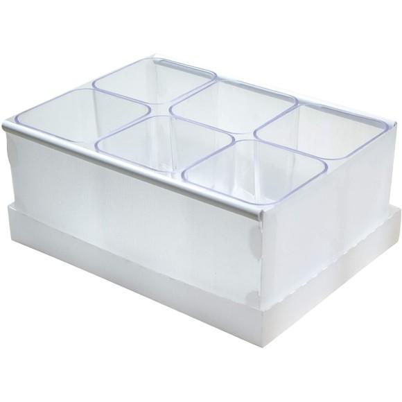 Caixa Organizadora de Objetos Com 9 Porta Objetos PP Linho Cristal Protêa - Dello