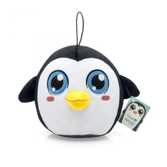 Almofada Chaveiro Pompets Pinguim - Ludi