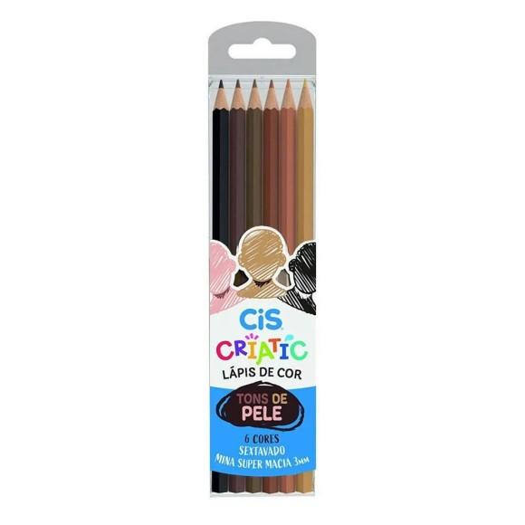 Lápis de Cor Tons de Pele Criatic 6 Cores - Cis