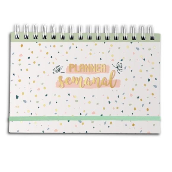 Planner Semanal Confete Pastel - Cartões Gigantes