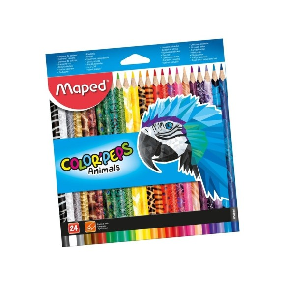 Lápis de Cor ColorPeps Animals 24 Cores - Maped