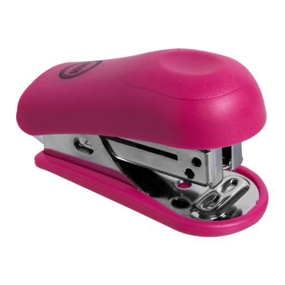 Mini Grampeador 20 Folhas Rosa - Jocar Office