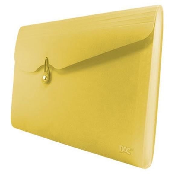 Pasta Sanfonada A4 12 Divisórias Amarelo - Dac