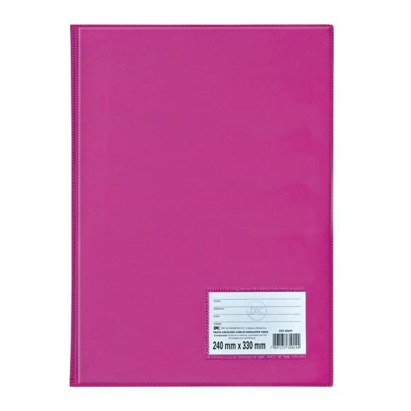Pasta Catálogo Ofício Com 50 Envelopes Rosa - Dac